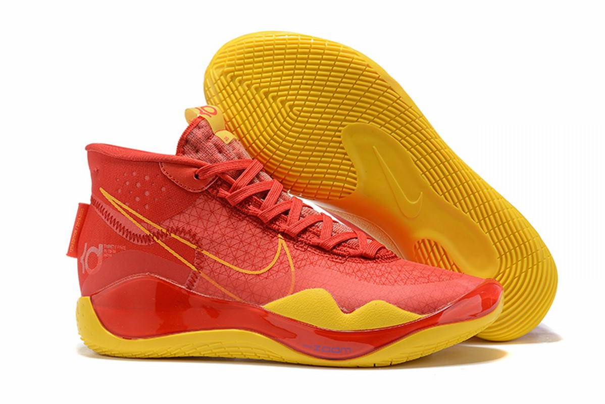 Nike KD 12 Shoes Red Yellow