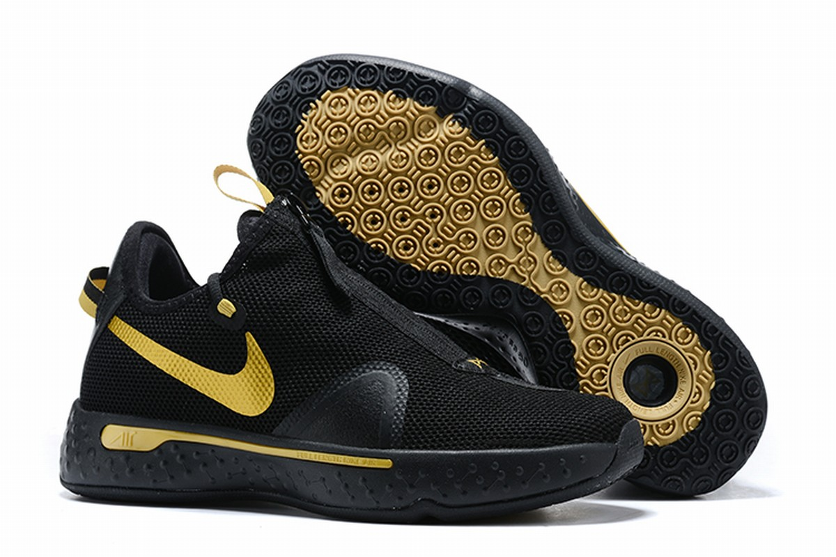 Nike PG 4 Men Shoes Black Gold