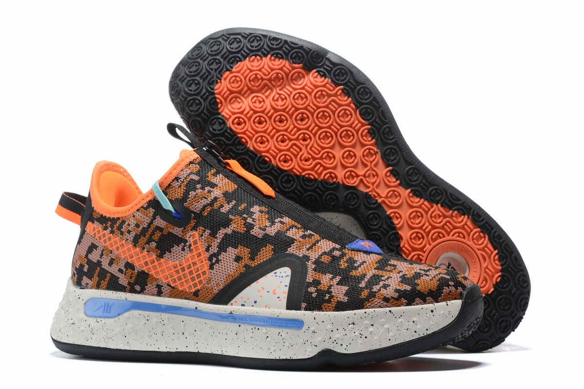 Nike PG 4 Men Shoes Black Orange
