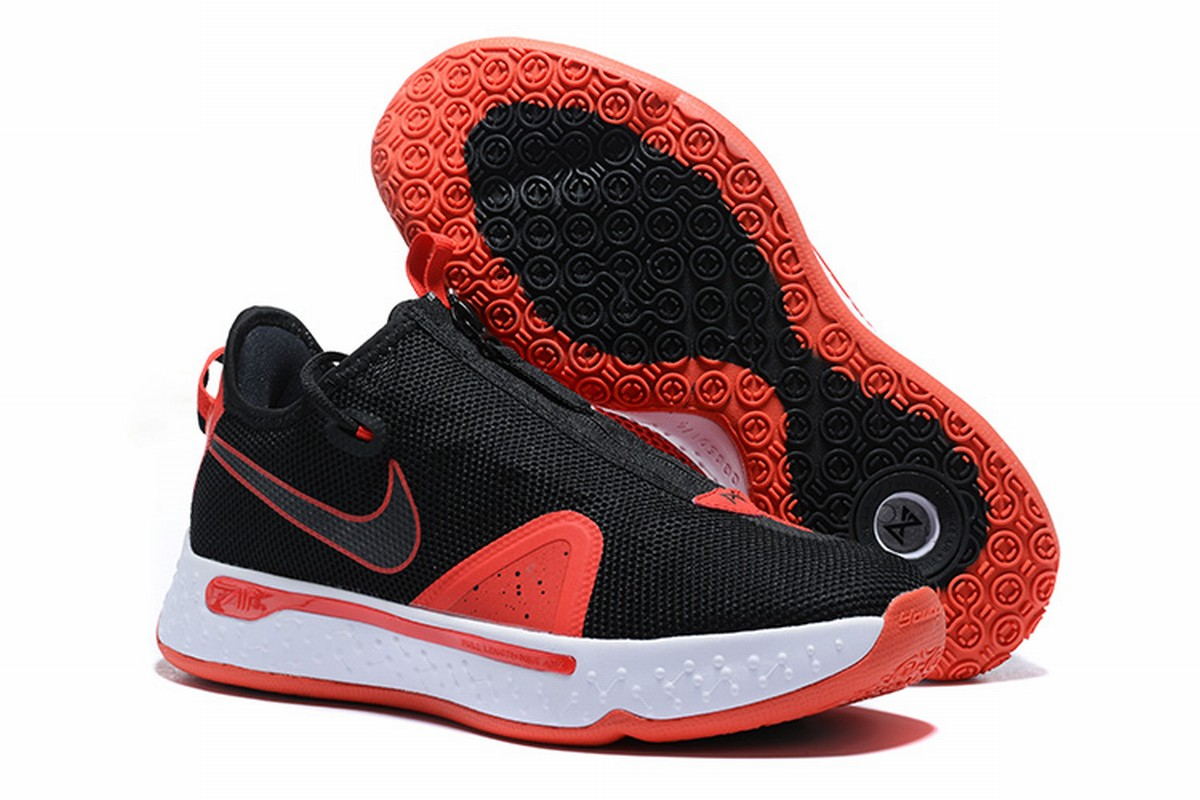 Nike PG 4 Men Shoes Black Red