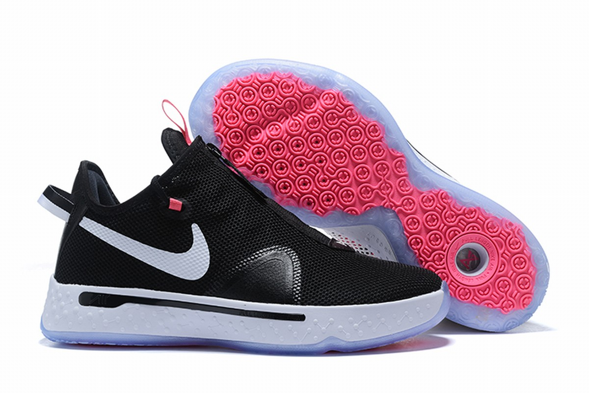 Nike PG 4 Men Shoes Black White Pink