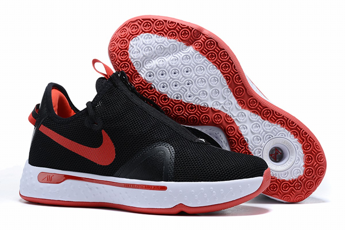 Nike PG 4 Men Shoes Black White Red