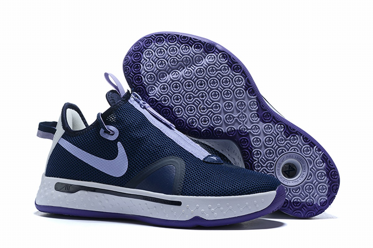 Nike PG 4 Men Shoes Dark Blue White